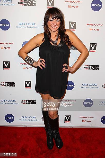 Nicolina Royale arrives at the 6th Annual Primary Wave Music PreGrammy Party at SLS Hotel on February 11 2012 in Beverly Hills California
