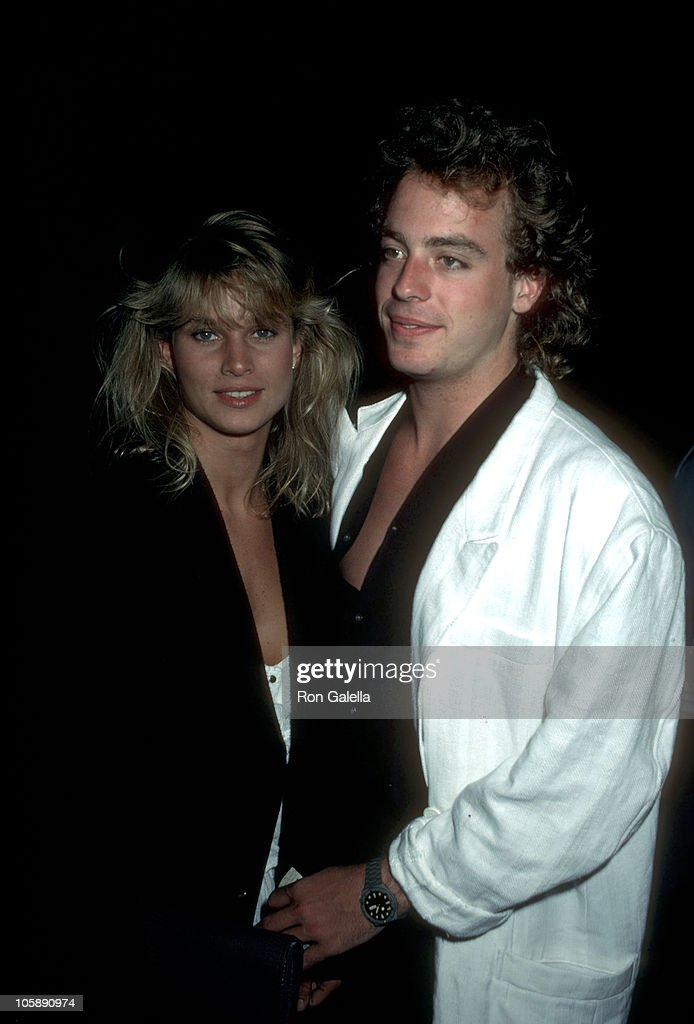 Nicollette Sheridan and Leif Garrett during Leif Garrett and Nicolette Sheridan at Spago's September 25 1984 at Spago's in Hollywood California...