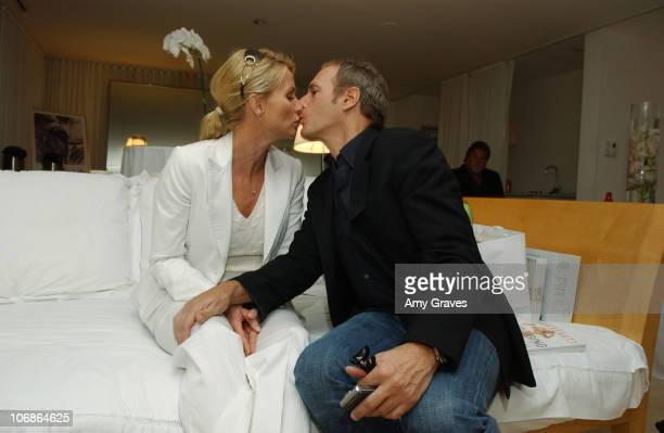 Nicollette Sheridan and Michael Bolton during Platinum Guild Oscar Suite 2006 at Mondrian Hotel in West Hollywood California United States