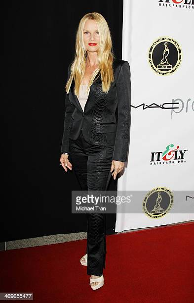 Nicollette Sheridan arrives at The Annual MakeUp Artists and Hair Stylists Guild Awards held at Paramount Theater on the Paramount Studios lot on...