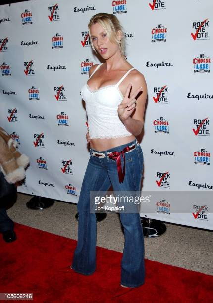 Nicollette Sheridan during Esquire Magazine Hosts 'Young Hollywood Votes' at The Esquire House Los Angeles in Beverly Hills California United States