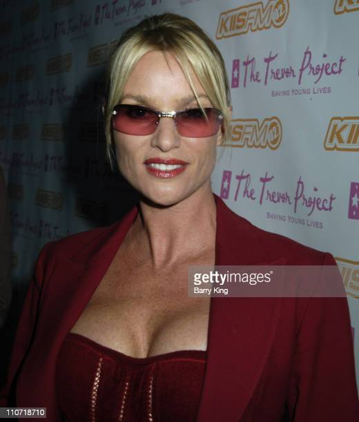 Nicollette Sheridan during The Trevor Project's Cracked Xmas 8 Red Carpet at The Wiltern in West Hollywood California United States