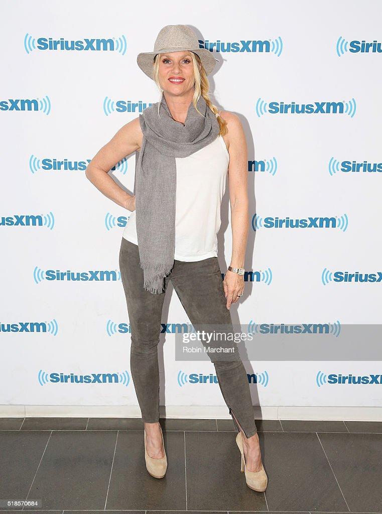 Nicollette Sheridan visits at SiriusXM Studio on April 1 2016 in New York City