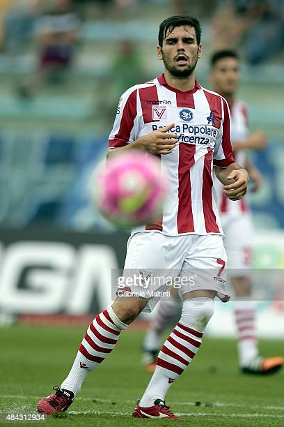 Nicolo' Brighenti of Vicenza Calcio in action during the TIM Cup match between Empoli FC and Vicenza Calcio at Stadio Carlo Castellani on August 15...