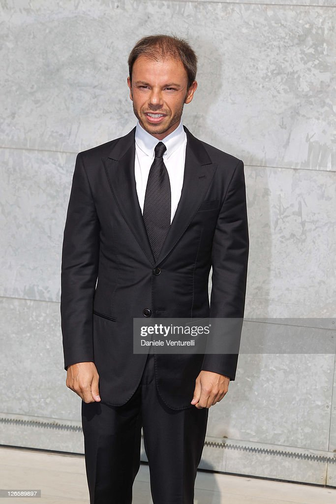 Nicolo Cardi attends the Giorgio Armani fashion show as part of Milan Fashion Week Womenswear Spring/Summer 2012 on September 26 2011 in Milan Italy