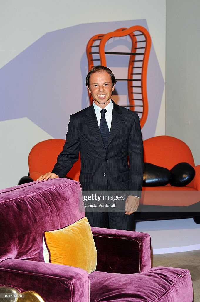 Nicolo Cardi attends the Mattia Bonetti's preview at the Cardi Black Box Gallery on June 7 2010 in Milan Italy