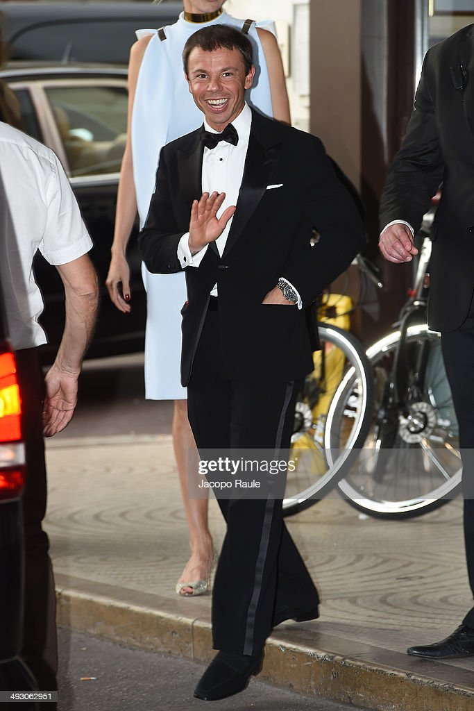 Nicolo Cardi is seen leaving Hotel Martinez on day 9 of the 67th Annual Cannes Film Festival on May 22 2014 in Cannes France