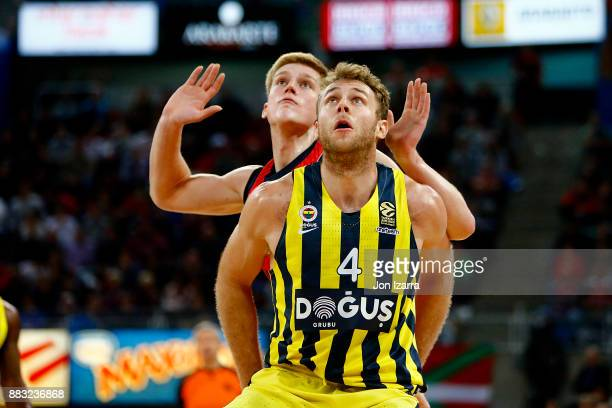 Nicolo Melli #4 of Fenerbahce Dogus Istanbul in action during the 2017/2018 Turkish Airlines EuroLeague Regular Season game between Baskonia Vitoria...