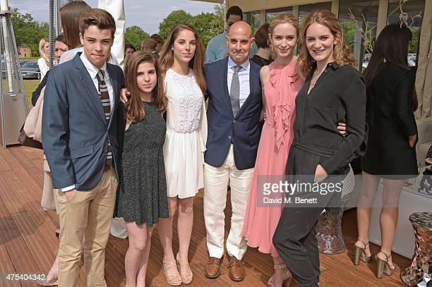 Nicolo Tucci Camilla Tucci Isabel Tucci Stanley Tucci Emily Blunt and Felicity Blunt attend day two of the Audi Polo Challenge at Coworth Park on May...