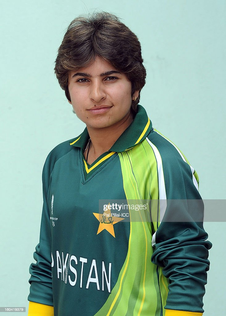 Nida Dar of Pakistan attends a portrait session ahead of the ICC Womens World Cup 2013 at the Barabati stadium on January 31, 2013 in Cuttack, India.