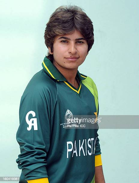 Nida Dar of Pakistan attends a portrait session ahead of the ICC Womens World Cup 2013 at the Barabati stadium on January 31 2013 in Cuttack India