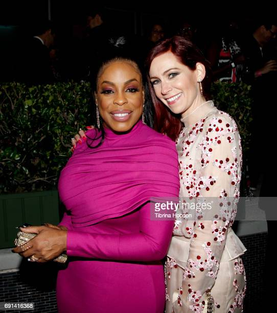 Niecy Nash and Carrie Preston attend the premiere of TNT's 'Claws' after party at Harmony Gold Theatre on June 1 2017 in Los Angeles California