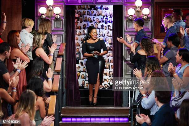 Niecy Nash greets the audience during 'The Late Late Show with James Corden' Thursday July 27 2017 On The CBS Television Network