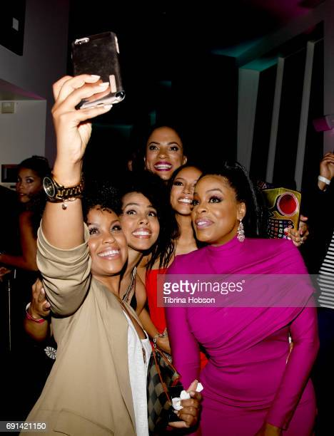 Niecy Nash Karrueche Tran Janine Sherman Barrois and Guests attend the premiere of TNT's 'Claws' after party at Harmony Gold Theatre on June 1 2017...