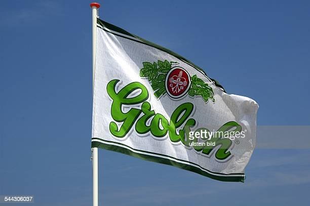 Niederlande Fahne mit dem Logo von Grolsch Bier
