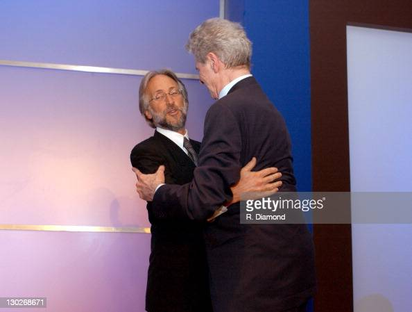 Niel Portnow and Van Cliburn during The 46th Annual GRAMMY Awards Nominee Reception and Special Awards Ceremony at California Science Center in Los...