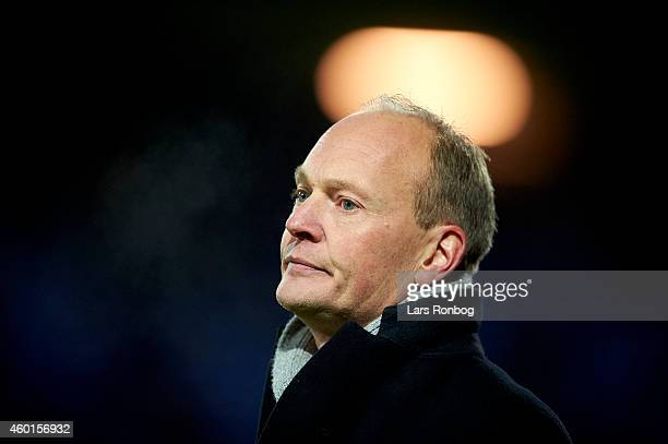 Niels Frederiksen head coach of Esbjerg FB shows frustration during the Danish Superliga match between Esbjerg FB and FC Nordsjalland at Blue Water...