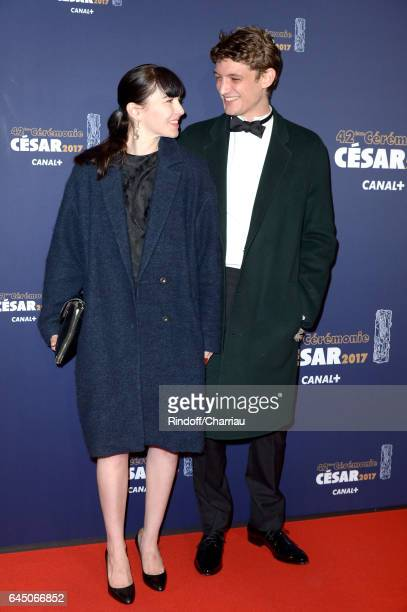 Niels Schneider and a guest arrive at the Cesar Film Awards Ceremony at Salle Pleyel on February 24 2017 in Paris France