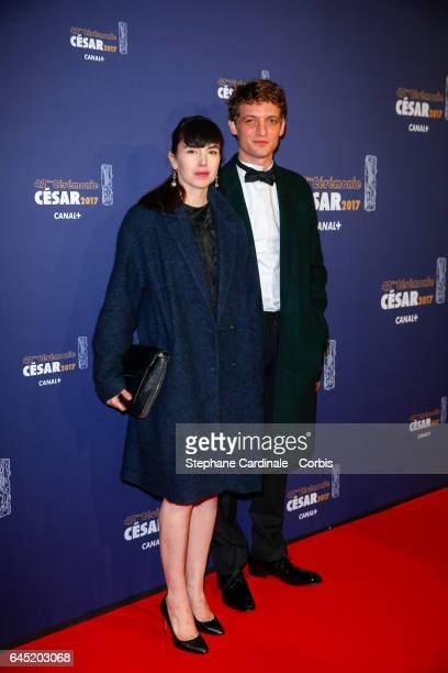 Niels Schneider and guest arrive at the Cesar Film Awards 2017 ceremony at Salle Pleyel on February 24 2017 in Paris France