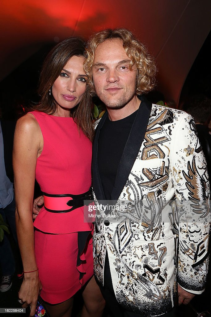Nieves Alvares and Peter Dundas attend The Pucci Dinner Party At Monsieur Bleu In Paris on September 28, 2013 in Paris, France.