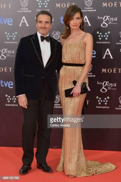 Nieves Alvarez and Marco Severini attends Goya Cinema Awards 2014 at Centro de Congresos Principe Felipe on February 9 2014 in Madrid Spain
