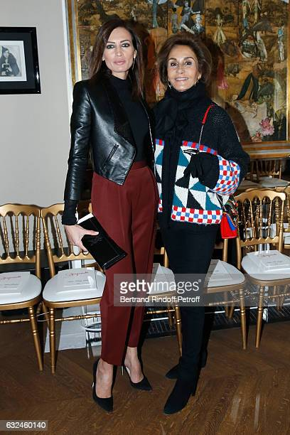 Nieves Alvarez and Naty Abascal attend the Schiaparelli Haute Couture Spring Summer 2017 show as part of Paris Fashion Week on January 23 2017 in...