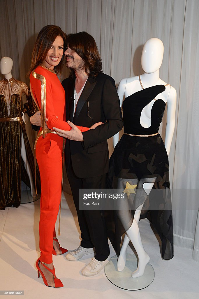 Nieves Alvarez and Stephane Rolland attend the Stephane Rolland Show as part of Paris Fashion Week Haute Couture Fall/Winter 20142015 at Cinema...
