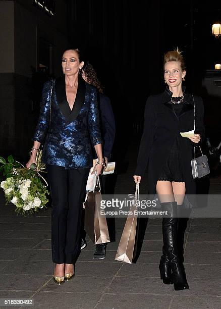Nieves Alvarez and Vanessa Lorenzo attend BvlgariHarper's Bazaar party at Reina Sofia Museum on March 30 2016 in Madrid Spain