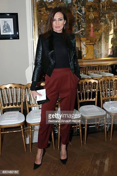 Nieves Alvarez attend the Schiaparelli Haute Couture Spring Summer 2017 show as part of Paris Fashion Week on January 23 2017 in Paris France