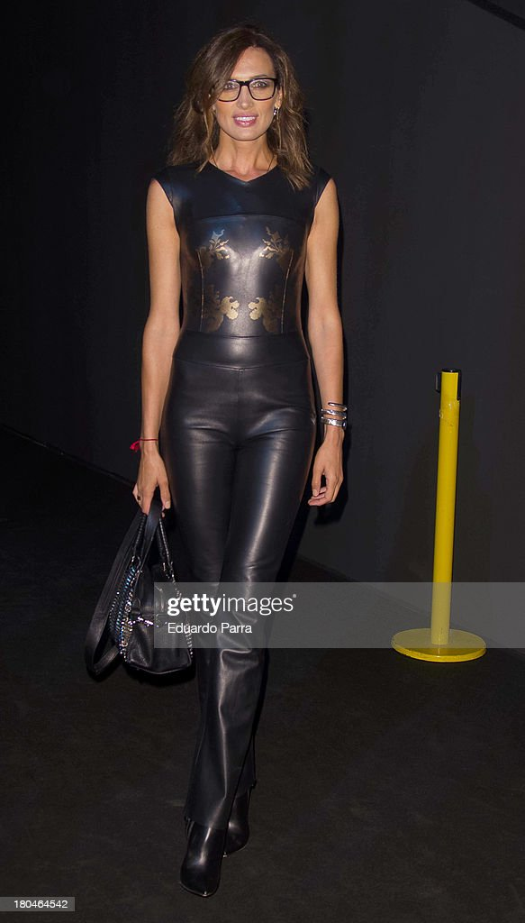 Nieves Alvarez attends a fashion show during the Mercedes Benz Fashion Week Madrid Spring/Summer 2014 on September 13, 2013 in Madrid, Spain.