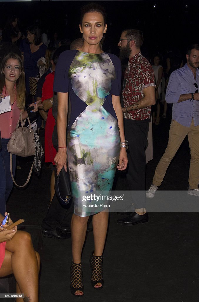 <a gi-track='captionPersonalityLinkClicked' href=/galleries/search?phrase=Nieves+Alvarez&family=editorial&specificpeople=234377 ng-click='$event.stopPropagation()'>Nieves Alvarez</a> attends a fashion show during the Mercedes Benz Fashion Week Madrid Spring/Summer 2014 on September 13, 2013 in Madrid, Spain.
