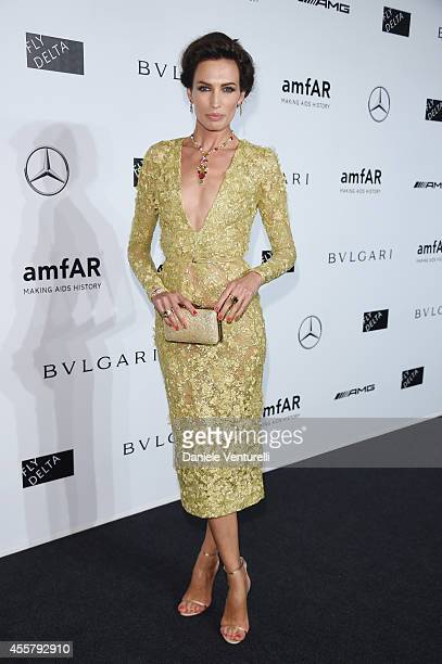 Nieves Alvarez attends amfAR Milano 2014 as a part of Milan Fashion Week Womenswear Spring/Summer 2015 on September 20 2014 in Milan Italy