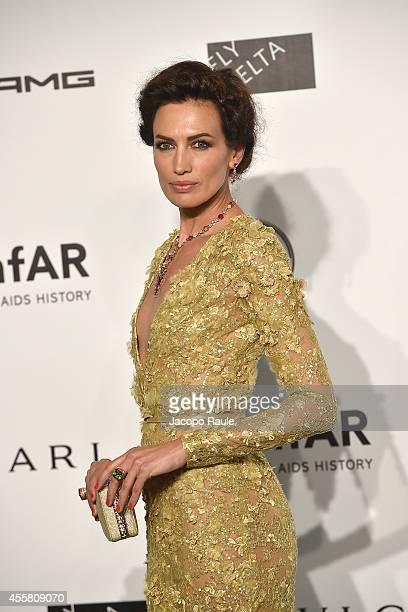 Nieves Alvarez attends amfAR Milano 2014 during Milan Fashion Week Womenswear Spring/Summer 2015 on September 20 2014 in Milan Italy