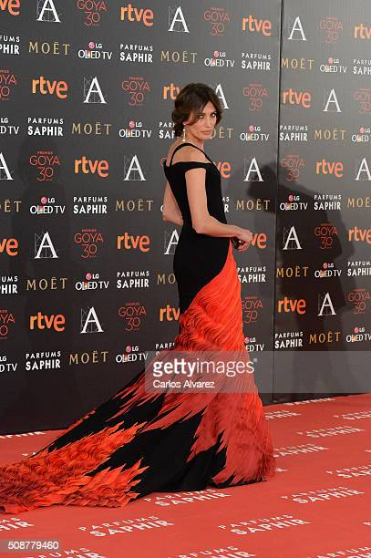 Nieves Alvarez attends Goya Cinema Awards 2016 at Madrid Marriott Auditorium on February 6 2016 in Madrid Spain
