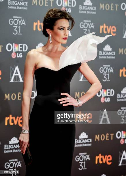 Nieves Alvarez attends Goya Cinema Awards 2017 at Madrid Marriott Auditorium on February 4 2017 in Madrid Spain