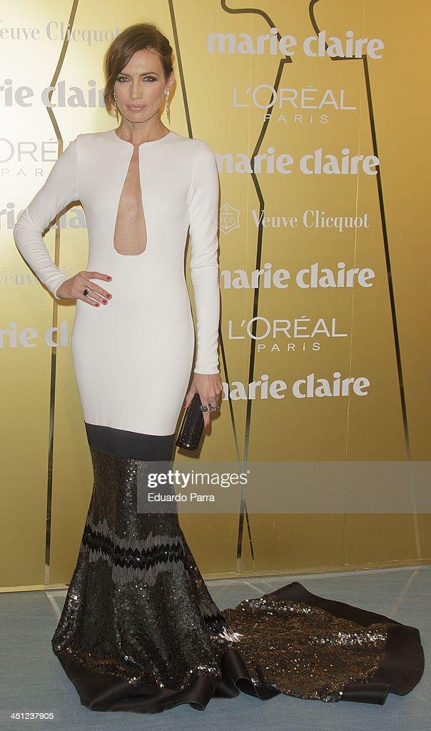 Nieves Alvarez attends 'Marie Claire Prix de la moda' awards 2013 photocall at Residence of France on November 21 2013 in Madrid Spain