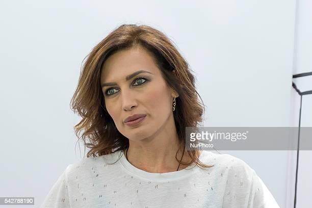 Nieves Alvarez attends 'NV' Fashion Show presentation during FIMI at Pabellon de Cristal de la Casa de Campo on June 24 2016 in Madrid Spain