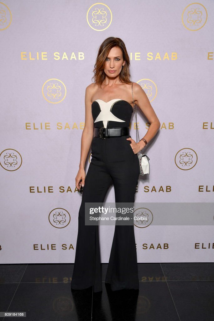 Nieves Alvarez attends the Elie Saab Haute Couture Fall/Winter 2017-2018 show as part of Haute Couture Paris Fashion Week on July 5, 2017 in Paris, France.