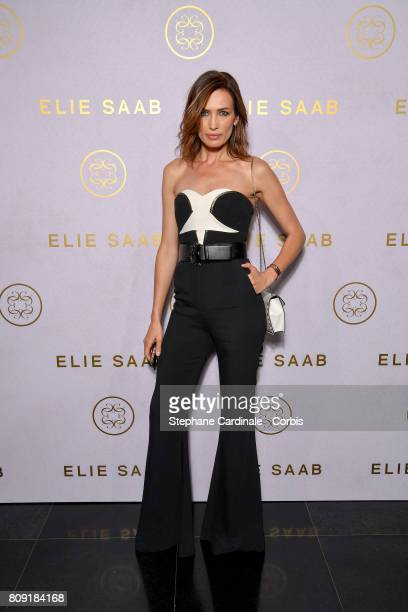 Nieves Alvarez attends the Elie Saab Haute Couture Fall/Winter 20172018 show as part of Haute Couture Paris Fashion Week on July 5 2017 in Paris...