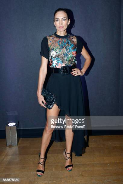 Nieves Alvarez attends the Elie Saab show as part of the Paris Fashion Week Womenswear Spring/Summer 2018 on September 30 2017 in Paris France