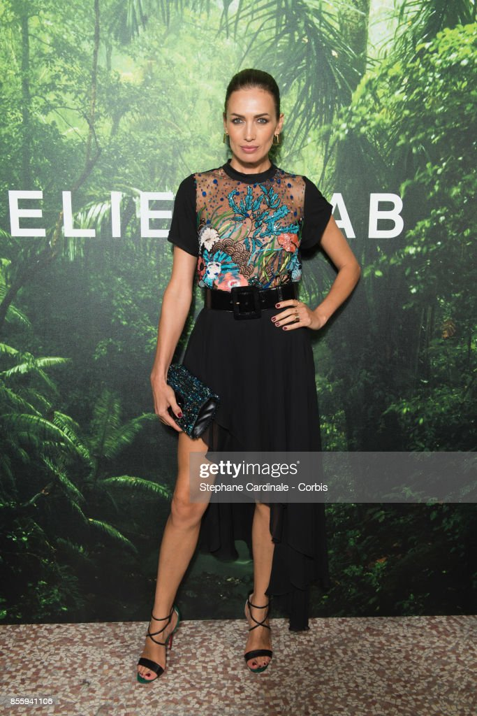 Nieves Alvarez attends the Elie Saab show as part of the Paris Fashion Week Womenswear Spring/Summer 2018 at on September 30, 2017 in Paris, France.