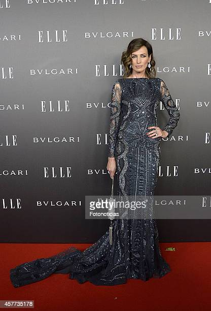 Nieves Alvarez attends the Elle Style Awards party at the Italian Embassy on October 23 2014 in Madrid Spain