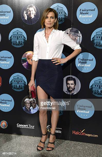 Nieves Alvarez attends the Elton John concert at the Royal Theater on July 20 2015 in Madrid Spain