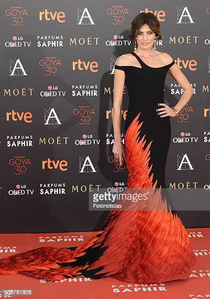 Nieves Alvarez attends the Goya Cinema Awards 2016 Ceremony at Madrid Marriott Auditorium on February 6 2016 in Madrid Spain