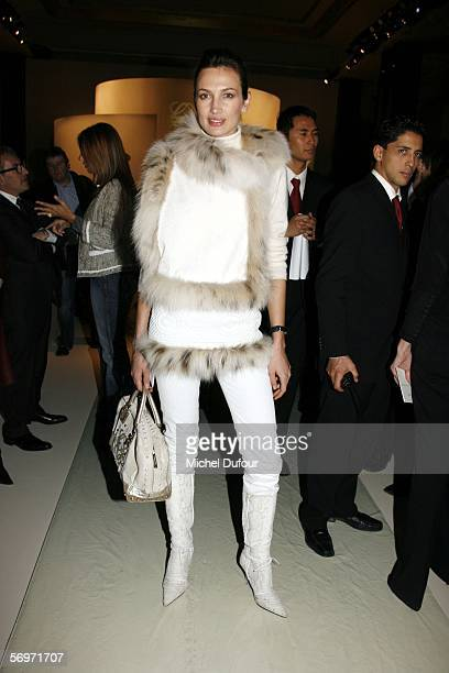 Nieves Alvarez attends the Loewe fashion show as part of Paris Fashion Week Autumn/Winter 2006/7 March 1 2006 in Paris France