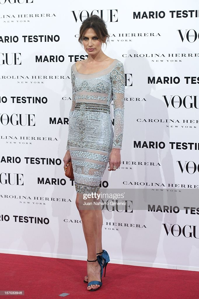 Nieves Alvarez attends the presentation launch of the Vogue December issue at Fernan Nunez Palace on November 27, 2012 in Madrid, Spain.