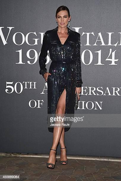 Nieves Alvarez attends Vogue Italia 50th Anniversary during Milan Fashion Week Womenswear Spring/Summer 2015 on September 21 2014 in Milan Italy