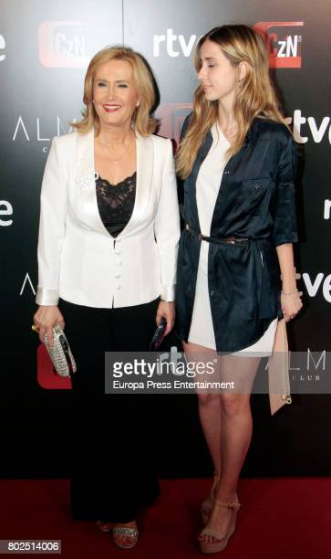 Nieves Herrero and daugther Ana Moreno attend 'Corazon' TV Programme 20th Anniversary at Alma club on June 27 2017 in Madrid Spain
