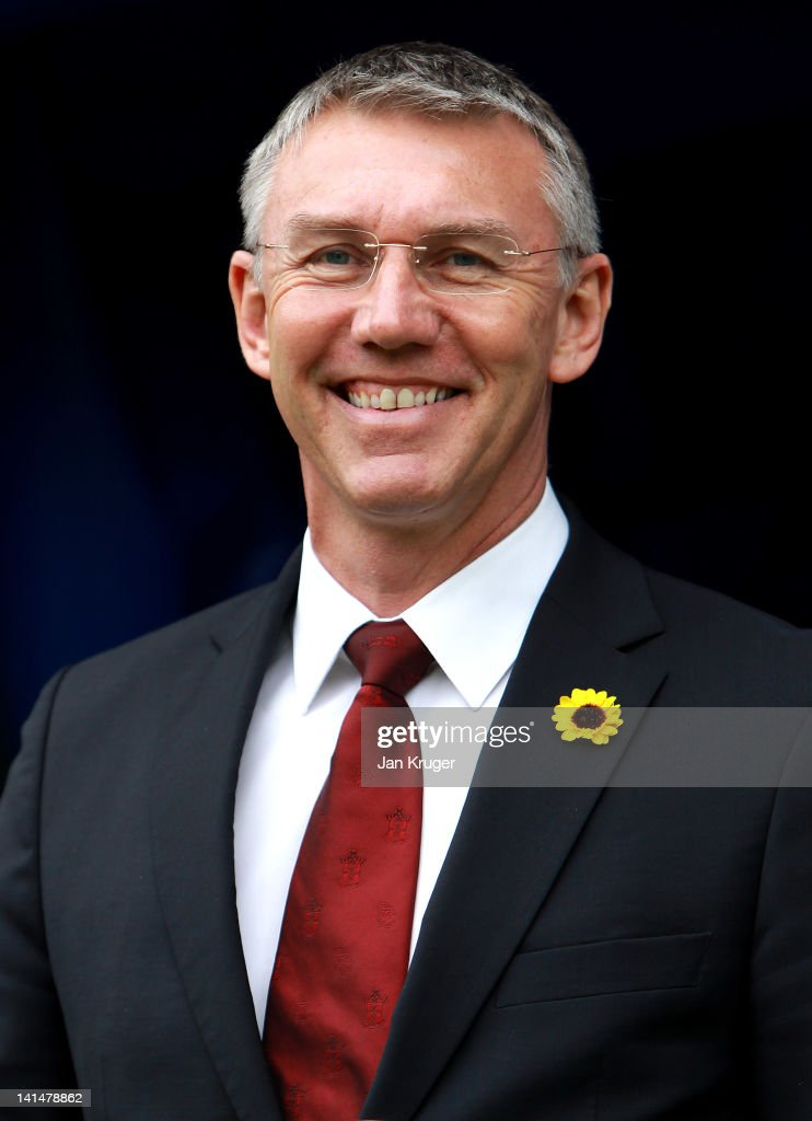 Nigel Adkins, Manager of Southampton looks on prior to kick off during the npower Championship match between Millwall and Southampton at The New Den on March 17, 2012 in London, England.