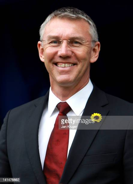 Nigel Adkins Manager of Southampton looks on prior to kick off during the npower Championship match between Millwall and Southampton at The New Den...